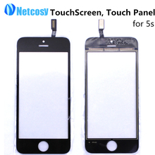 New Touch Screen Digitizer Touch Panel Glass Lens for Apple for iPhone 5S for iPhone5s TouchScreen Cheap Replacement Black White