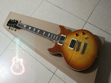 Wholesale and retail Custom Shop Honey Burst Electric Guitar Double cut Free shipping(China)