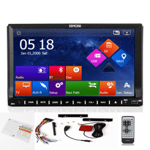 Radio Audio Stereo BT MP5 Auto Navigator USB Logo 3D win8 Sub RDS Car DVD Player MP3 8GB GPS Map Capacitive 2 Din