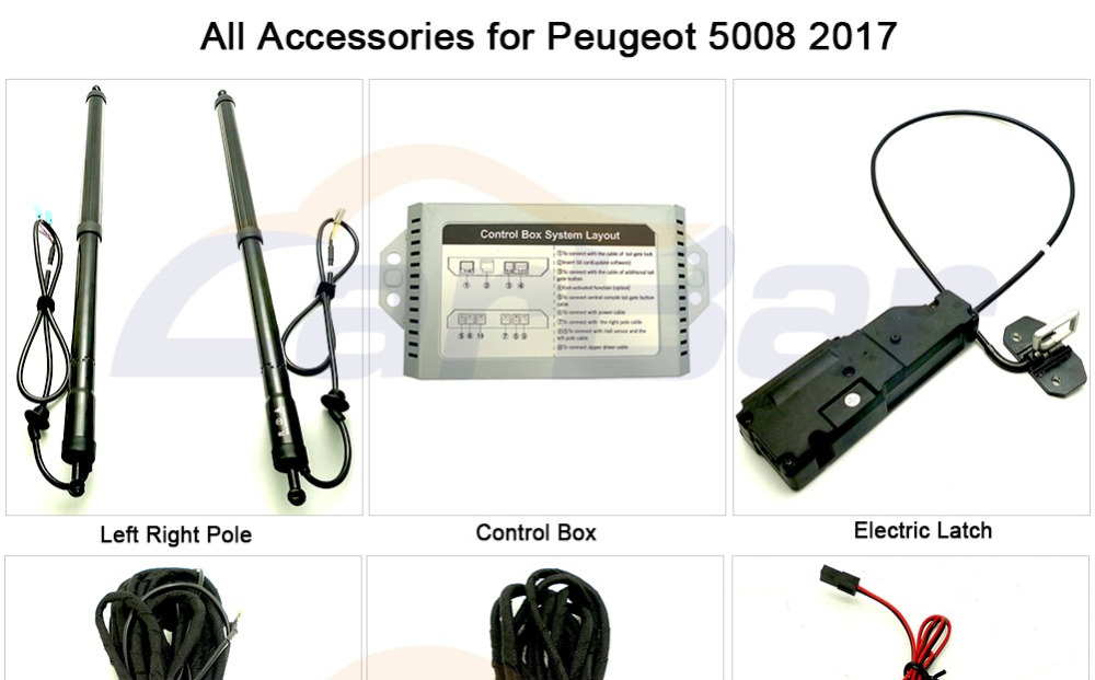 Electric Tail gate lift for peugeot 5008 accessories (1)
