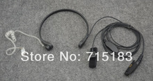 Throat Vibration Air-Tube Acoustic Headset with Finger-control PTT for Motorola GP344 GP388 GP328Plus GL200 EX500 EX600XLS