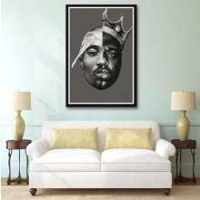 J3001 2Pac Notorious B.I.G Tupac Biggie Rap Music Singer Star Art Print Poster Silk Light Canvas Painting Wall Picture Home Deco(China)