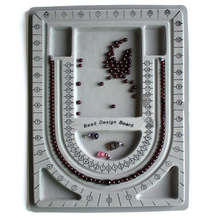 Flocked Jewelry Making Design Bead Board String Beading Organiser Tray Craft