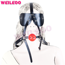 Buy harness blindfold perforated open mouth gag ball adult sex toys bdsm bondage set fetish slave bdsm sex toys couples