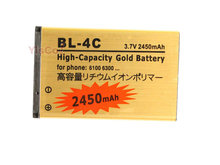 Cisoar 2450mAh BL-4C BL 4C BL4C Gold Replacement Battery For Nokia 6100 6300 6125 6136S 6170 6260 6301 7705 Twist 7200 7270
