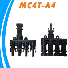 1 pair M/FM Solar Panel MC4 4 to 1 T Branch 30A Solar Panel Connector Cable Coupler Combiner MC4 Panel Cable Connectors(China)
