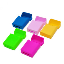 1 X Colorful Silicone Cigarette Case Cover 90mm*58mm*25mm Fashion Elastic Silicone Portable Man/WomanCig Case Cover.Color Random(China)