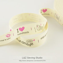 F039#- 8 cherry fruit label cotton ribbons mini.order is $5 (mix order) 2CM width Zakka L&Z sewing studio accessory sewing tapes