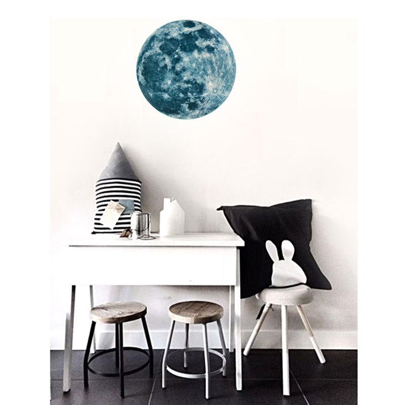 HTB1V9J6SpXXXXaGapXXq6xXFXXXN - Super Luminous moon wallpaper luminous wall stickers luminous waterproof stickers children bedroom bedroom decoration mural