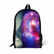 FORUDESIGNS Fashion Galaxy Backpack,3D Star Sky Pattern Student Backpacks Brand Back Pack Bag For Teenage Kids Soft High Quality