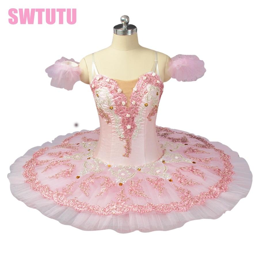 pink ballet tutu Sugar Plum Fairy Pancake Tutu Skirt performance adult ballerina costumes BT9055