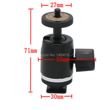 "Mini Tripod Ballhead Ball Head with 1/4"" 3/8"" Adapter For Camera / monitor /LED lamp holder head multipurpose universal"