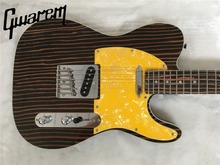 Electric guitar/Gwarem luck star tele guitar/zebrawood body/guitar in china(China)