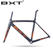 Carbon Road Bike Frame 2016 Di2 and Mechanical 500/530/550mm Super Light carbon road Frame+Fork+headset carbon bicycle frame(China)