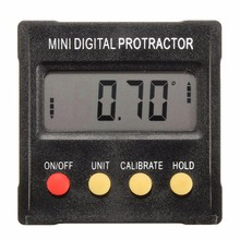 360 Degree Mini Digital Protractor Inclinometer Electronic Clinometer Angle Gauge Meter Level Box Magnetic Base Measuring Tools