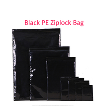 free shipping 100pcs/lot Size: 9x13cm~33x45cm PE plastic black color zipper ziplock reclosable valve Packing bags /POCKET