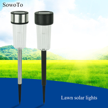 5pcs/lot Stainless Steel Solar Lawn Light For Garden Decorative 100% Solar Power Outdoor Solar Lamp Luminaria