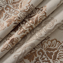 Curtain cloth new shading linen jacquard material double jacquard marriage room sitting room the bedroom curtain cloth 35