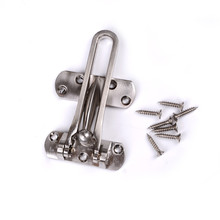 Top Quality Zinc Alloy Hasp Latch Lock Door Chain Anti-theft Clasp Convenience Window Cabinet Locks For Home Hotel Security(China)
