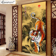 3D DIY Diamond Painting cross stitch diamond embroidery christmas decoration Siberia Tiger Picture diamond mosaic rhinestones