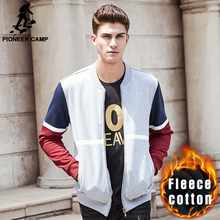 Pioneer Camp thick warm hip hop hoodies men brand clothing autumn winter zipper hoodies male top quality sweatshirts men  622188