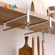 Iron+Wood 5 hooks Kitchen Tissue Holder Hanging Bathroom Toilet Roll Paper Holder Towel Rack Kitchen Cabinet Door Hook Holder(China)