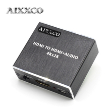 AIXXCO HDMI Audio extractor HDMI to HDMI with Optical TOSLINK SPDIF + 3.5mm Stereo Audio Extractor Converter HDMI Audio Splitter