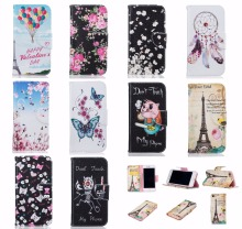 For LG K7 K8 LG K10 Case Painted Flip Case Wallet Leather Case For LG K7 K8 LG K10 Case Cover Pig Cat Bone Eiffel Tower Balloon(China)