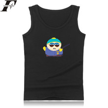 LUCKYFRIDAYF Summer Vest South Park Tank Top Men Bodybuilding And Plus Size South Park Exercise Workout Tank Tops Sherlock Logo