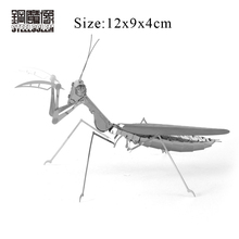 3D Metal Puzzles DIY Machine Insect Mantis Assembling Kits Model Jigsaws Adult Children Education Birthday Gift Intelligence Toy
