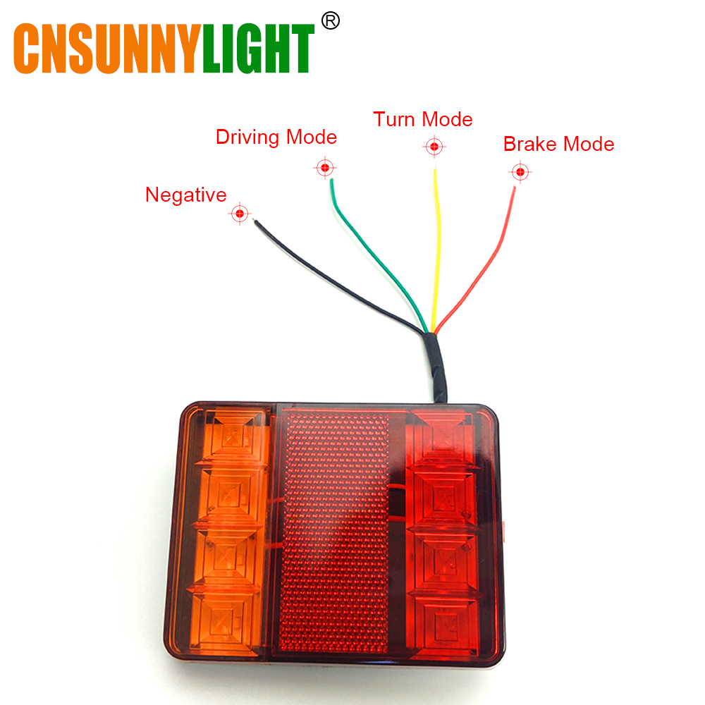 CNSUNNYLIGHT Car Truck Rear Tail Light Warning Lights Rear Lamps Waterproof Tailight Rear Parts for Trailer Caravans DC 12V 24V (1)