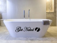 Get Naked wall decals vinyl stickers home decor living room wall pictures bathroom wall tile stickers murals(China)