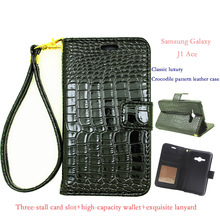 Classic Luxury Crocodile Pattern Leather Case Cover For Samsung Galaxy J1 Ace, J1 Ace Neo J110F, J110L J110M J110G Phone Cases(China)