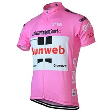2017 SUNWEB men's summer cycling jerseys pink of Cycling clothing short sleeve jerseys Apparel Bike Wear Short Sleeve(China)
