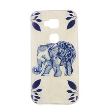 Coque G8 Ultrathin TPU Fashion Pattern Case For Huawei Ascend G8 Cover Soft Silicon butterfly Wind chime elephant Designer cases(China)