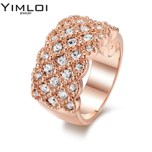Vintage AAA Zircon Rings For Women Birthday Gift Wedding Fashion Jewelry Gold Filled May Birthstone Ring RB020