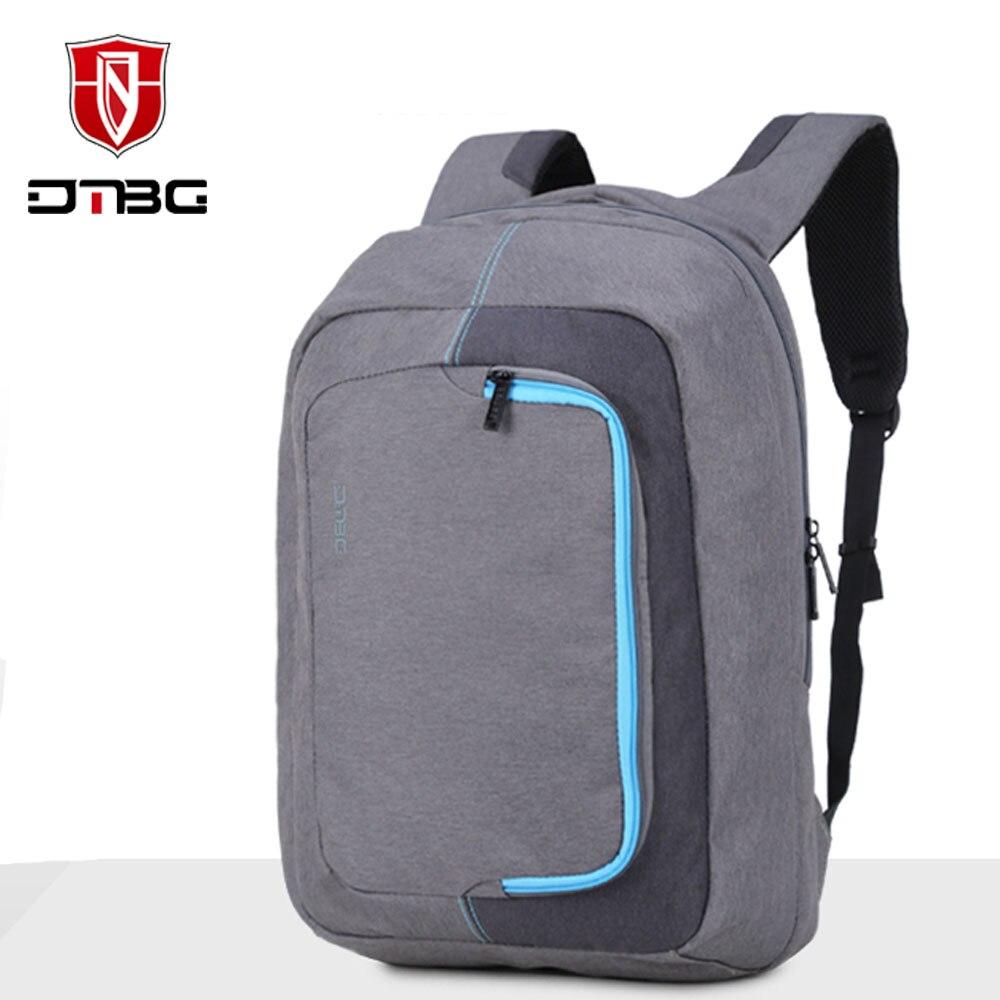 DTBG 15.6 Inch Casual Water Proof Nylon Laptop Backpack Travel Hiking Rucksack Notebook School Bag for Macbook Asus Dell ASUS HP<br>