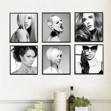 Fashion Girls Canvas Art Print Painting Poster, Hairdressing Wall Picture for Home Decor, Hair Style Wall Print Decor