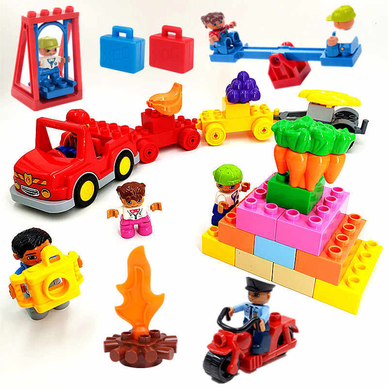 Detail Feedback Questions About Big Size Diy Building Blocks Car