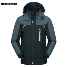 Mountainskin Men's Spring Breathable Waterproof Thin Jackets Outdoor Sports Male Coats Hiking Trekking Fishing Windcheater VA120