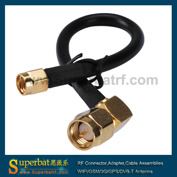 Superbat RF universal extension cable SMA male right angle to RP SMA male (female pin) RG58 25cm cable<br><br>Aliexpress