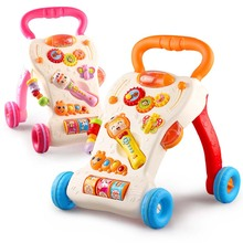2017 Toddler Baby Walker Stroller Children Lovely Learning Walking Tools with Music Mute Wheel Kids Toys