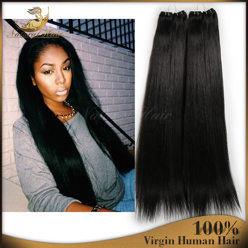 New Hot High Quality Brazilian Virgin Human Hair Perfect Long Straight Hair Extension Natural Color Dyeable For Grace Lady<br><br>Aliexpress