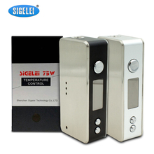 Buy Promotion Original Sigelei 75W TC Mod Electronic Cigarette Vape 75W Temperature Control Box Mod Compatible 18650 Battery for $46.15 in AliExpress store