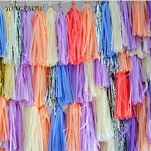 10Pcs Tissue Paper Tassels Garland Paper Craft Birthday/Wedding Party Decoration Home Decor Balloon Ribbon Baby Shower