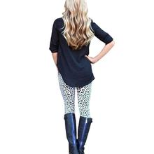 Feitong HOT SEXY Women Lady Leopard Printed Legging Black And White Print Stretchy Jegging Pants Slim Leggings Mid Waist #OR