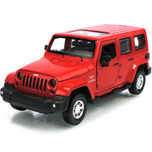 Maisto Diecast Car 1/32 Scale Jeep Wrangler Willys Model Car Off-road Vehicle With Openable Doors Toy for Children Gift