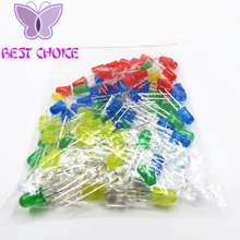 100pcs 5mm LED diode Light Assorted Kit DIY LEDs Set White Yellow Red Green Blue free shiiping(China)