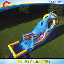 free shipping!10x4x6m new design giant inflatable shark slide with pool,giant inflatable water slide for adults(China)