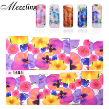 Water Nail Decals,10sheets Flower Stylish Design Nail Art Tips Sticker,Transfer Watermark Stickers on Nails Decoration Supplies